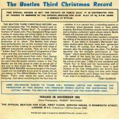 beatlesthirdchristmasrecordback