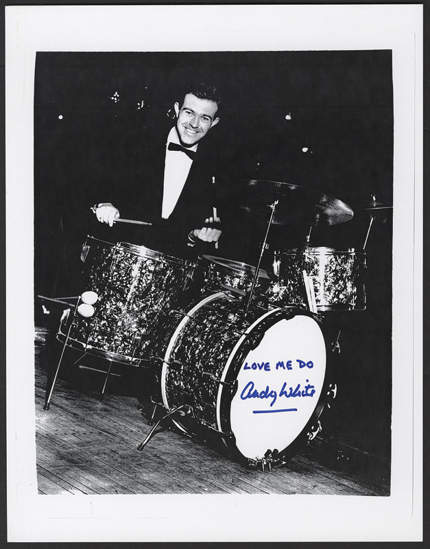 Andy White, the session drummer who replaced Ringo Starr on 11th September 1962