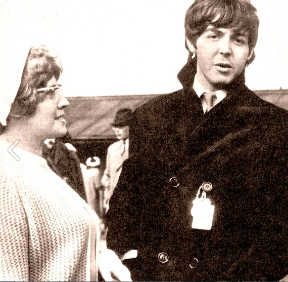 Angie McCartney with Paul McCartney